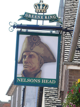 Pub Sign - Nelsons Head, Merryland, St Ives 110626