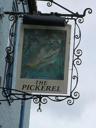 Pub Sign - The Pickerel, Magdalene Street, Cambridge 110907