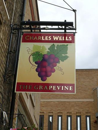 Pub Sign - The Grape Vine, Peterborough 110613