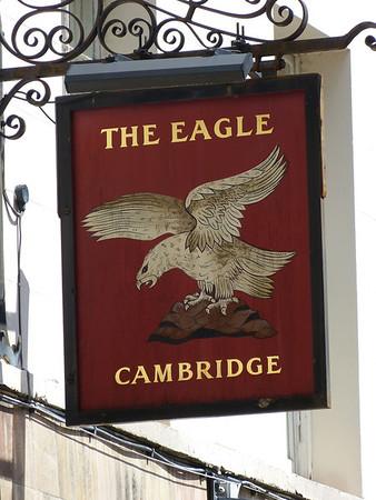 Pub Sign - The Eagle, Benet Street, Cambridge 120623