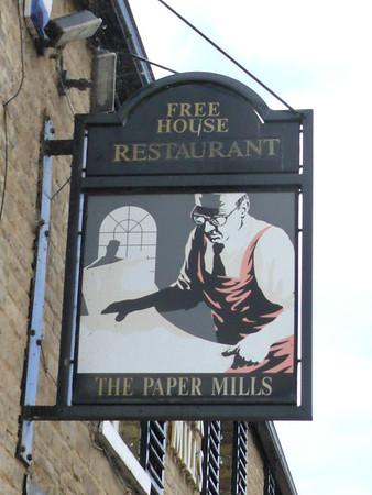 Pub Sign - The Paper Mills, Elton Road, Wansford 110903
