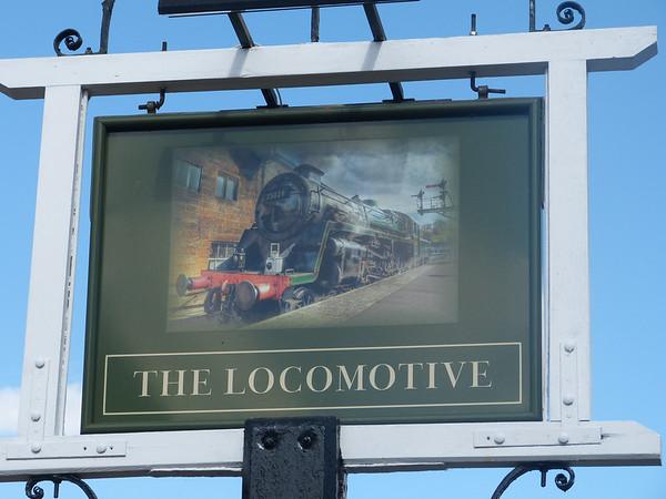 Pub Sign - The Locomotive, Lynn Road, Wisbech 130818