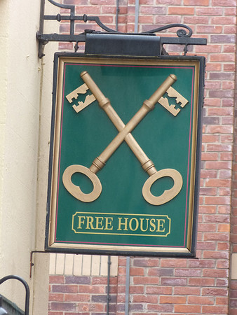 Pub Sign - Cross Keys, William Street, Barrow 120310