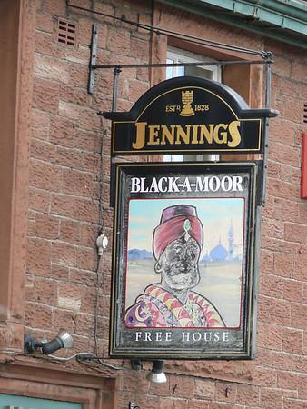 Pub Sign - Black-A-Moor, Market Hill, Wigton 110817