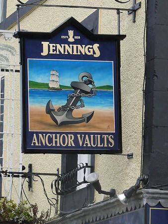 Pub Sign - Anchor Vaults, Market Place, Whitehaven 110106