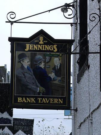 Pub Sign - Bank Tavern, Main Street, Keswick 101213