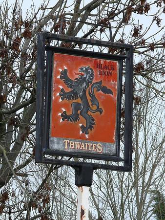 Pub Sign - Black Lion, Newbiggin Road, Durdar 110116