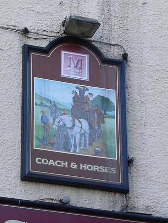 Pub Sign - Coach & Horses, Haverflatts Lane, Milnthorpe 110817