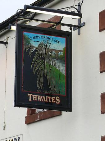 Pub Sign - Corby Bridge Inn, Great Corby 110116