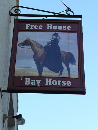 Pub Sign - Bay Horse, Canal Foot, South Ulverston 101009