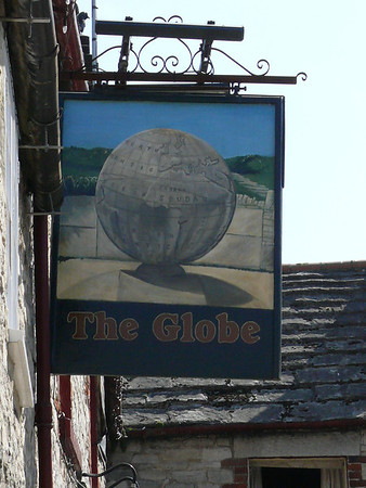 Pub Sign - The Globe, Bell Street, Swanage 110410