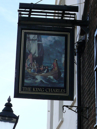 Pub Sign - The King Charles, Thames Street, Poole 110409