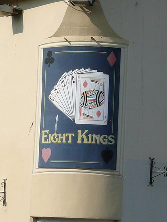 Pub Sign - Eight Kings, Southwell Street, Portland 110421