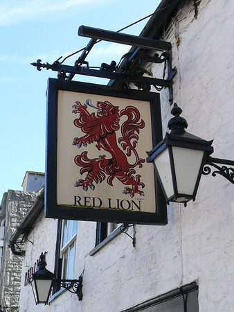 Pub Sign - Red Lion, High Street, Swanage 110410