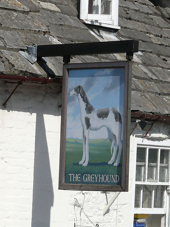 Pub Sign - The Greyhound, The Square, Corfe Castle 110410