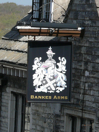 Pub Sign - Bankes Arms, The Square, Corfe Castle 110410