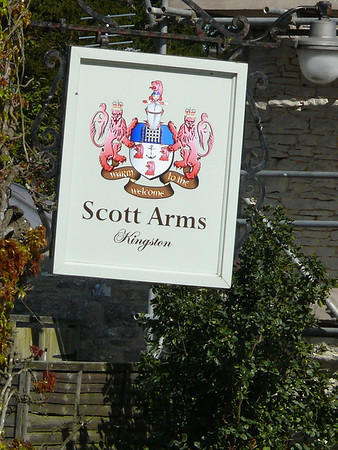 Pub Sign - Scott Arms, Kingston, Dorset 110410