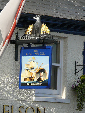 Pub Sign - The Lord Nelson, The Quay, Poole 110409