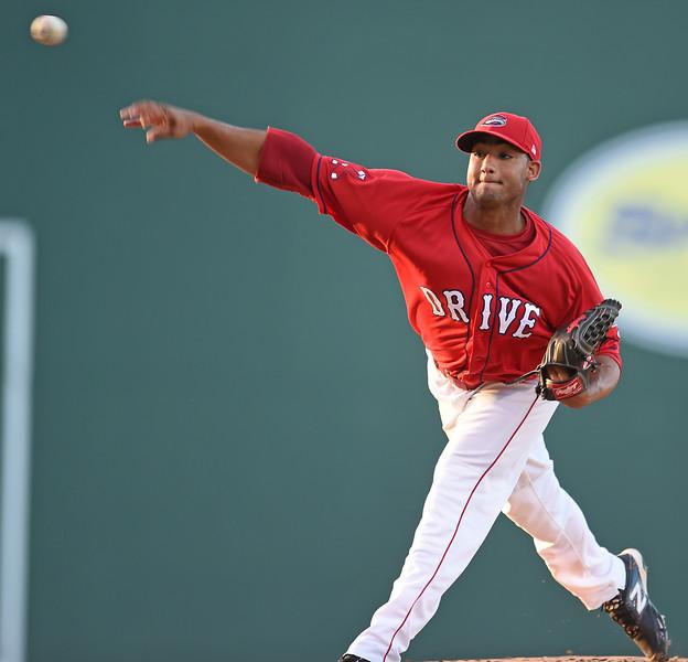 The Greenville Drive played host to the Rome Braves in a South Atlantic League baseball game.<br /> GREENVILLE DRIVE PHOTOS<br /> GWINN DAVIS MEDIA<br /> GWINN DAVIS PHOTOS<br /> SC News Exchange<br /> gwinndavisphotos.com (website)<br /> (864) 915-0411 (cell)<br /> gwinndavis@gmail.com  (e-mail) <br /> Gwinn Davis (FaceBook)<br /> National Press Photographers Association <br /> Nikon Professional Services