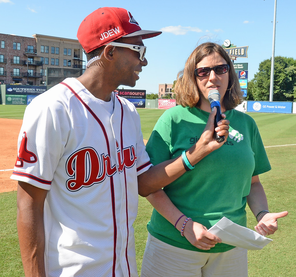 The Greenville Drive played host to the Charleston RiverDogs in a South Atlantic League baseball game.<br /> GREENVILLE DRIVE PHOTOS<br /> GWINN DAVIS MEDIA<br /> GWINN DAVIS PHOTOS<br /> SC News Exchange<br /> gwinndavisphotos.com (website)<br /> (864) 915-0411 (cell)<br /> gwinndavis@gmail.com  (e-mail) <br /> Gwinn Davis (FaceBook)<br /> National Press Photographers Association <br /> Nikon Professional Services
