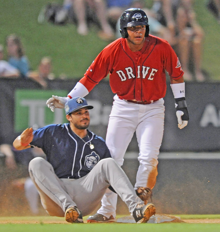 The Greenville Drive played host to the Asheville Tourists in a South Atlantic League baseball game.<br /> GREENVILLE DRIVE PHOTOS<br /> GWINN DAVIS MEDIA<br /> GWINN DAVIS PHOTOS<br /> SC News Exchange<br /> gwinndavisphotos.com (website)<br /> (864) 915-0411 (cell)<br /> gwinndavis@gmail.com  (e-mail) <br /> Gwinn Davis (FaceBook)<br /> National Press Photographers Association <br /> Nikon Professional Services
