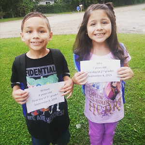 William and Julia Enriquez  are ready for the first day of classes at Stadium Drive Elementary School in Lake Orion. Submitted by proud grandmother Tammy Taylor.
