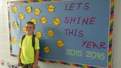 Michael Vanderwill is ready to go at the start of fourth grade at Oxbow Elementary in White Lake, in the Huron Valley district. Submitted by Susan Vanderwill.
