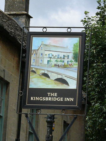 Pub Sign - The Kingsbridge Inn, Bourton-on-the-Water 110723