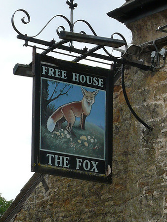 Pub Sign - The Fox, Lower Odddington 110723