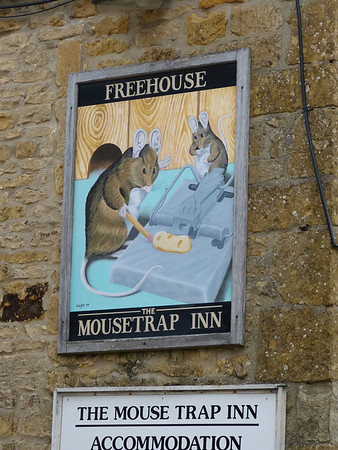 Pub Sign - The Mouse Trap Inn, Lansdown, Bourton on the Water 130325