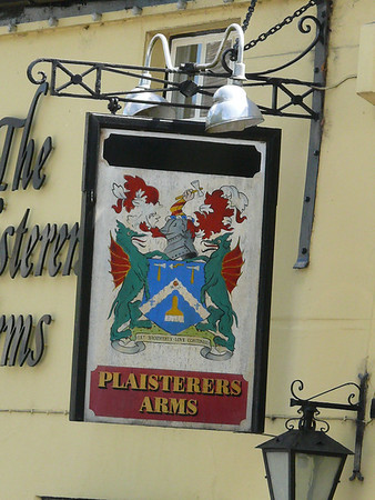 Pub Sign - Plaisterers Arms, Abbey Terrace, Winchcombe 110724