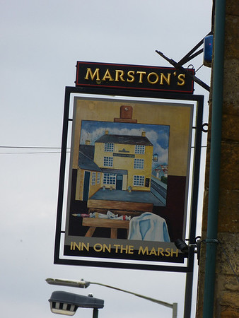 Pub Sign - Inn on the Marsh, Moreton in Marsh 130329