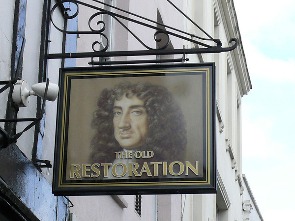 Pub Sign - The Old Restoration, High Street, Cheltenham 110407