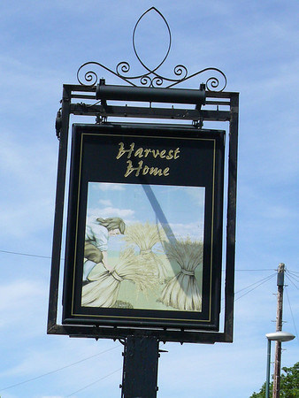 Pub Sign - Harvest Home, Evesham Road, Greet 110724