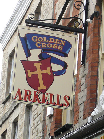 Pub Sign - Golden Cross, Black Jack Street, Cirencester 110725