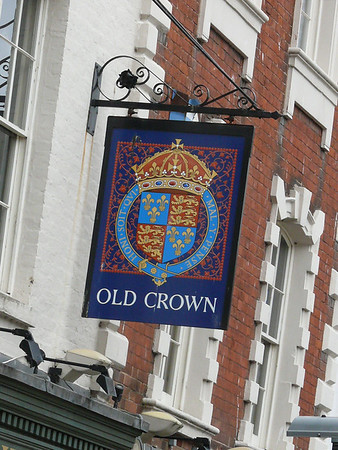 Pub Sign - Old Crown, Westgate Street, Gloucester 110718
