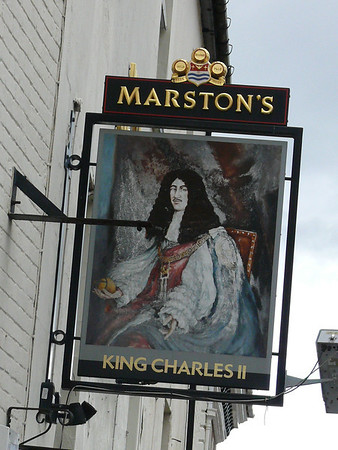 Pub Sign - King Charles II, Broad Street, Ross-on-Wye 110718