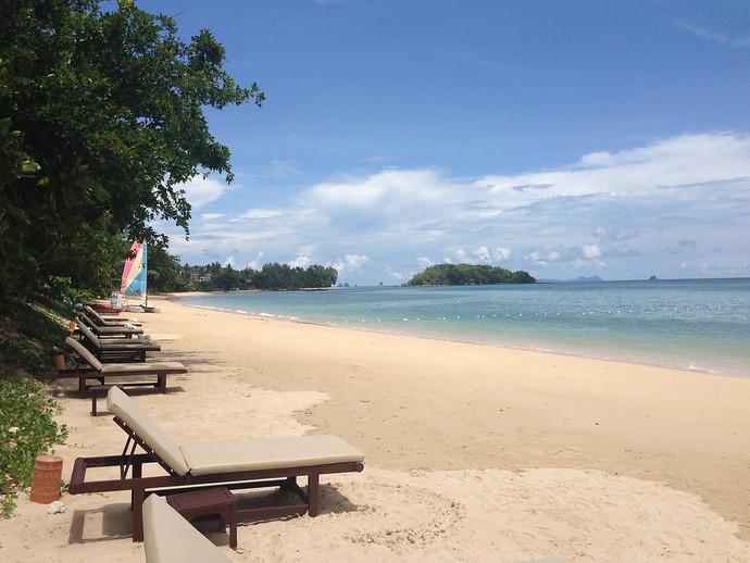 Klong Muang Beach outside the Sofitel Hotel