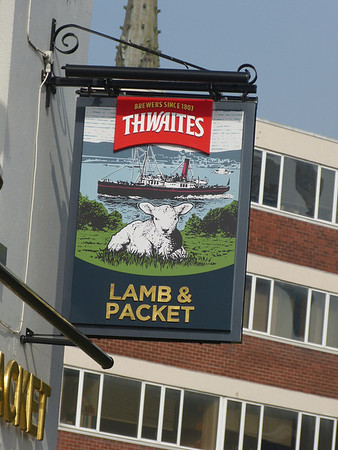 Pub Sign - Lamb & Packet, Friargate, Preston 140330