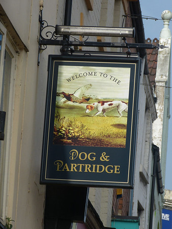 Pub Sign - Dog & Partridge, Friargate, Preston 140330