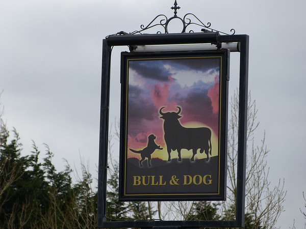 Pub Sign - Bull & Dog, Liverpool Road South, Burscough 120225