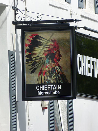 Pub Sign - Chieftain, Pedder Street, Morecambe 170528