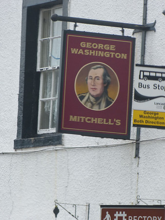 Pub Sign - George Washington, Main Street, Warton 111226