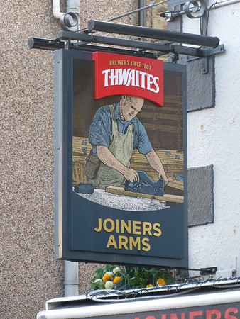 Pub Sign - Joiners Arms, Queen Street, Morecambe 131208