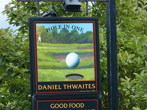 Pub Sign - Hole in One, Forest Drive, Lytham 130804