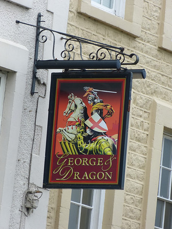 Pub Sign - George & Dragon, St George's Quay, Lancaster 130519