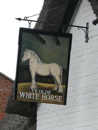Pub Sign - Ye Olde White Horse, Churchgate, Spalding 110910