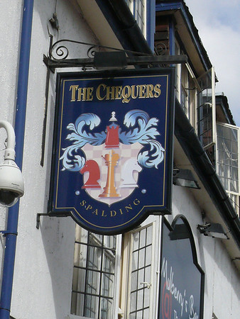 Pub Sign - The Chequers, Swan Street, Spalding 110910