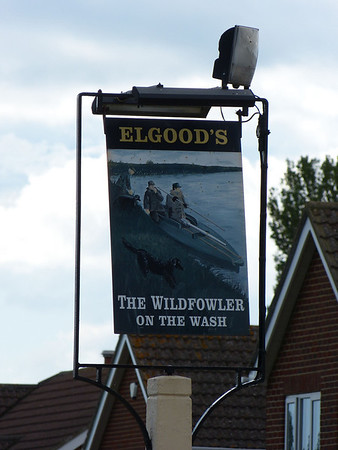 Pub Sign - The Wildfowler on the Wash, Gedney Drove End 120624