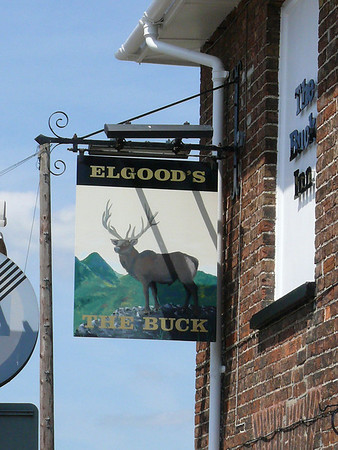 Pub Sign - The Buck, Tilney St Lawrence 110614